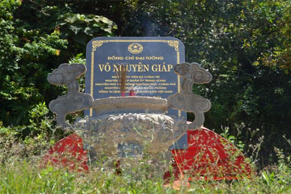Vị trí phong thủy của lăng mộ đại tướng Võ Nguyên Giáp