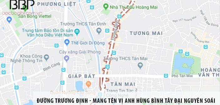 Đường Trương Định - mang tên vị anh hùng Bình Tây Đại Nguyên Soái