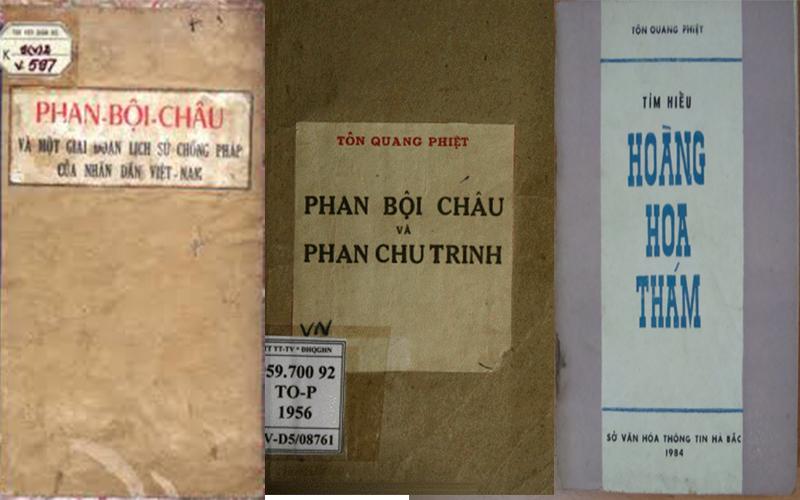 Một số cuốn sách tiêu biểu của Tôn Quang Phiệt