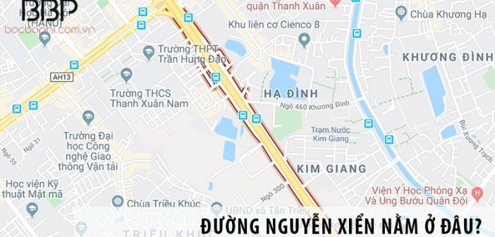Đường Nguyễn Xiển nằm ở đâu?