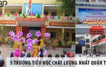 Top 5 trường tiểu học chất lượng nhất quận Tây Hồ, Hà Nội