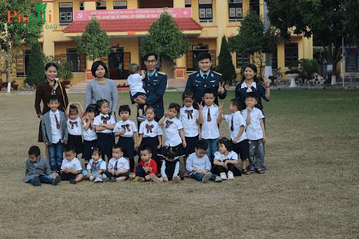 Chuyến trải nghiệm thực tế của các bé Mầm non nhà Đậu trong Doanh trại quân đội
