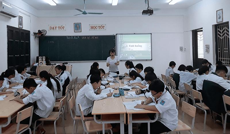 Một tiết học của trường THCS Hai Bà Trưng