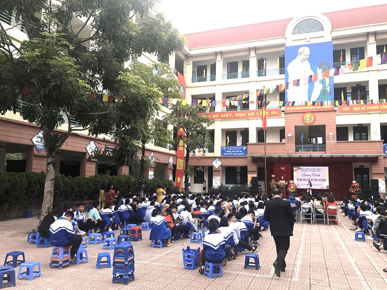 Trường THCS Minh Khai - phường Thanh Nhàn