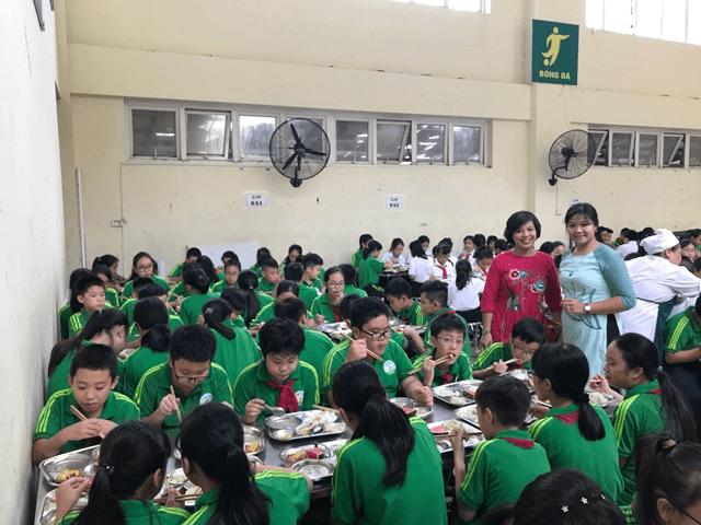 Khu nhà ăn của trường THCS Nguyễn Tri Phương