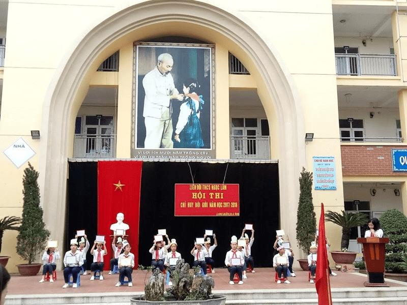 """Trường THCS Ngọc Lâm tổ chức hội thi """"Chỉ huy đội giỏi"""""""