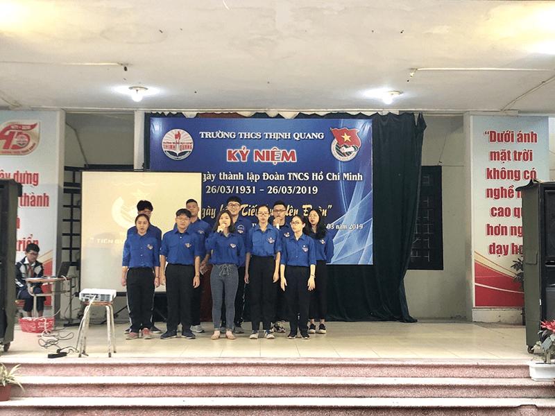Trường THCS Thịnh Quang tổ chức kỷ niệm ngày thành lập Đoàn TNCS Hồ Chí Minh