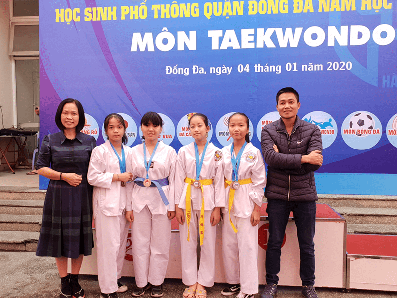 Học sinh nhà trường đạt Huy chương Vàng trong Hội khỏe Phù Đổng cấp Quận năm học 2019-2020