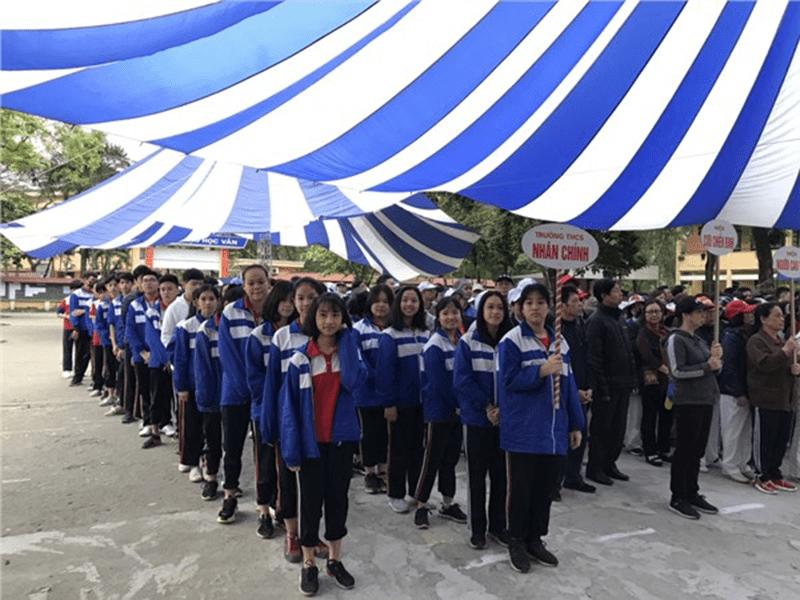 Trường THCS Nhân Chính phát động Ngày chạy Olympic vì sức khỏe toàn dân và Giải chạy báo Hà nội mới