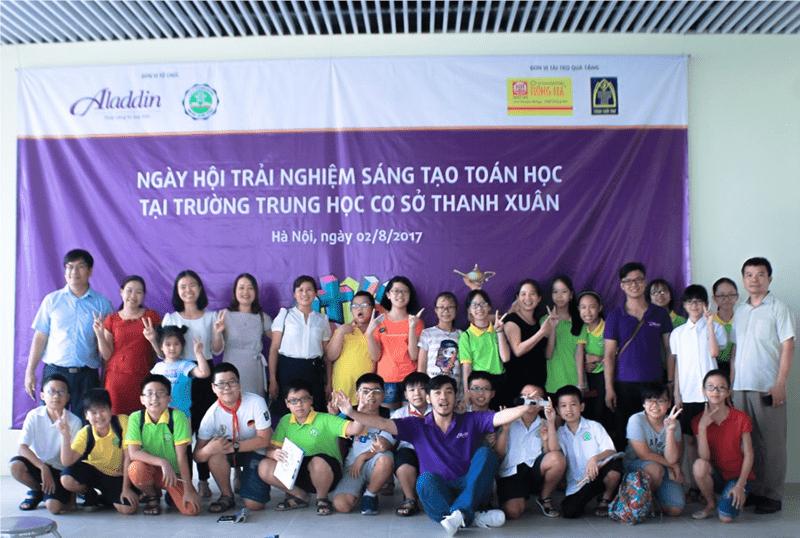 Ngày hội trải nghiệm sáng tạo toán học tại trường THCS Thanh Xuân