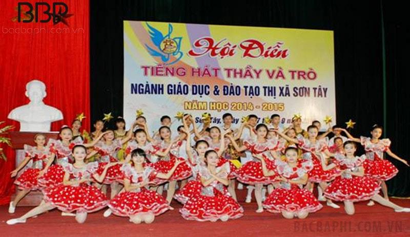 Nhà trường tham gia Hội diễn thầy và trò do thị xã Sơn Tây tổ chức