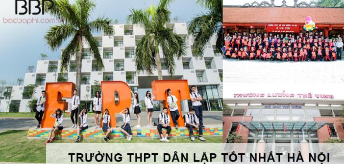 Trường THPT dân lập tốt nhất Hà Nội