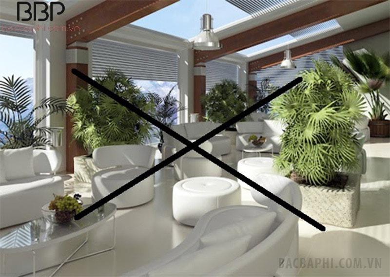 Không nên trồng cây giả trong phòng khách